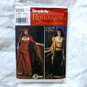 Simplicity 9246 Uncut Pattern Renaissance Costumes